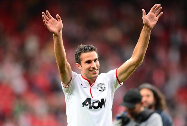 Robin van Persie scored a hat-trick in the 3-2 win over Southampton