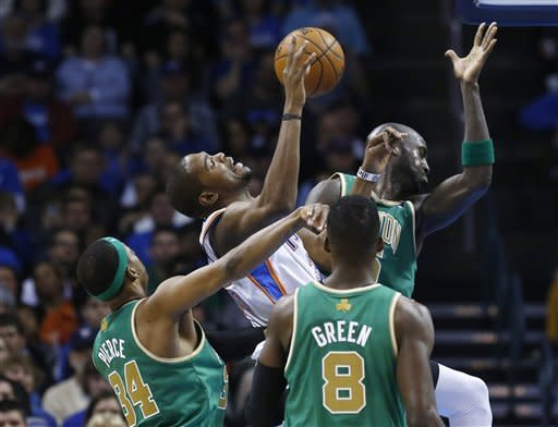 Thunder grind out 91-79 win over Celtics