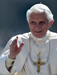 Pope Benedict XVI waves as he arrives with his popemobile in St. Peter&#39;s Square in the Vatican for his weekly general audience on Wednesday. The Vatican has issued a scathing condemnation of the main association of Catholic nuns in the United States for taking liberal stances on contraception, homosexuality and female priests
