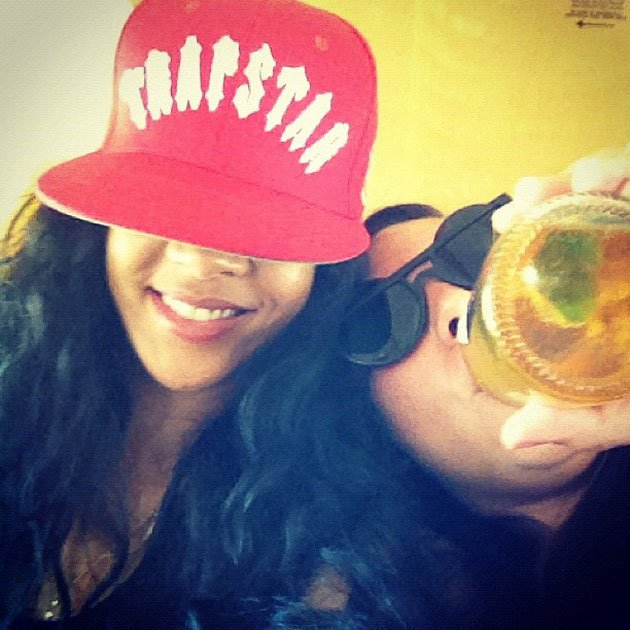 Rihanna drinking corona
