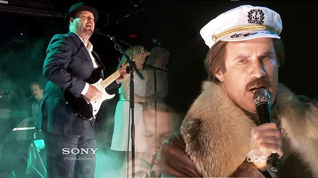 Ron Burgundy Performs Duet with Christopher Cross