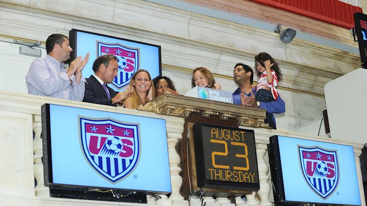 Christie Rampone, Captain, 2012 U.S. Women's Olympic Soccer Rings The NYSE Opening Bell