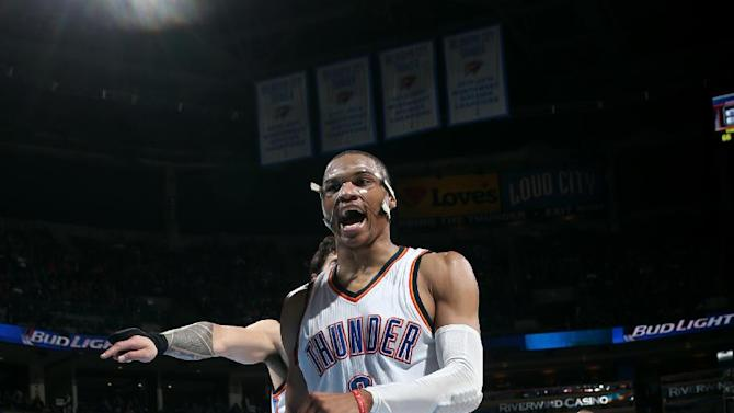 Westbrook posts another triple-double; Thunder beat Hawks