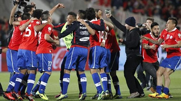 Chile's players celebrate (Reuters)