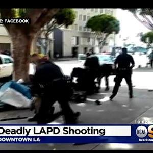 LAPD Investigates Deadly Skid Row OIS Caught On Video