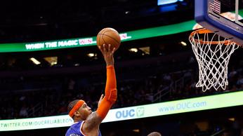 Anthony scores 40, Knicks down Magic 114-106