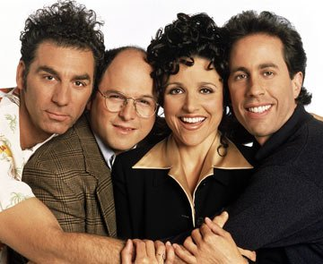 Michael Richards, Jason Alexander, Julia Louis-Dreyfus and Jerry Seinfeld NBC's Seinfeld