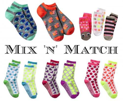 Fun Socks to Mix and Match