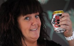 Claire Ayton broke her seven pints a day Diet Coke havit. Photo: BPM MEDIA /Daily Telegraph