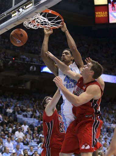 McAdoo leads No. 11 Tar Heels past Gardner-Webb