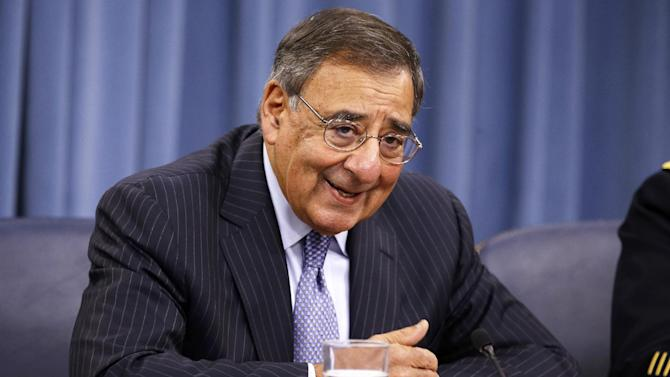 Defense Secretary Leon Panetta speaks at a news conference at the Pentagon, Thursday, Sept. 27, 2012. (AP Photo/Jacquelyn Martin)