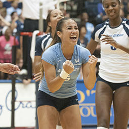 Oliveira Talks Volleyball Player of the Week Award