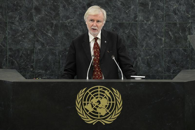 Finland's Foreign Minister Tuomioja addresses the 68th United Nations General Assembly at U.N. headquarters in New York