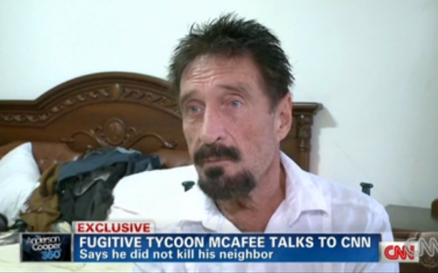 False Alarm: John McAfee Is Still on the Run