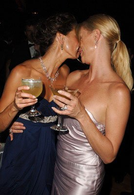 Teri Hatcher and Nicollette Sheridan Governor's Ball Emmy Awards - 9/18/2005
