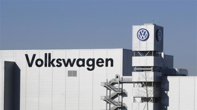 The Volkswagen plant is shown in Chattanooga Tennessee