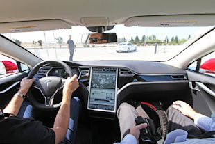 Interface of the Tesla Model S