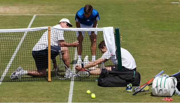 Tennis - 2013 Wimbledon Championships - Practice - The All England Lawn Tennis and Croquet Club