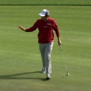 Jon Curran converts 27-foot putt for birdie at The RSM Classic