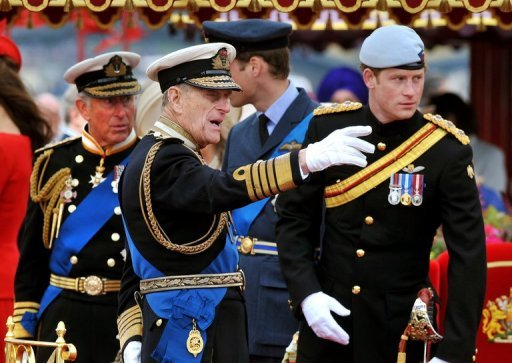 &lt;p&gt;Members of Britain&#39;s royal family (L-R) Prince Charles, Prince Philip, Prince William and Prince Harry during the Thames Diamond Jubilee Pageant on June 3. Prince Charles, the heir to the throne, was promoted by Queen Elizabeth II to the highest ranks in all three British military services on Saturday.&lt;/p&gt;