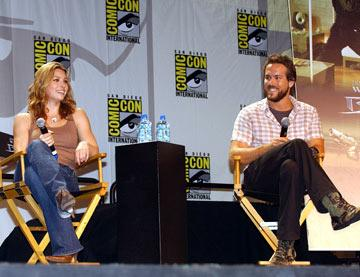 Jessica Biel and Ryan Reynolds Blade: Trinity panel 2004 San Diego Comic-Con International - 7/23/2004