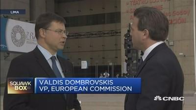 Lower oil prices, euro to boost EU growth - Dombrovskis
