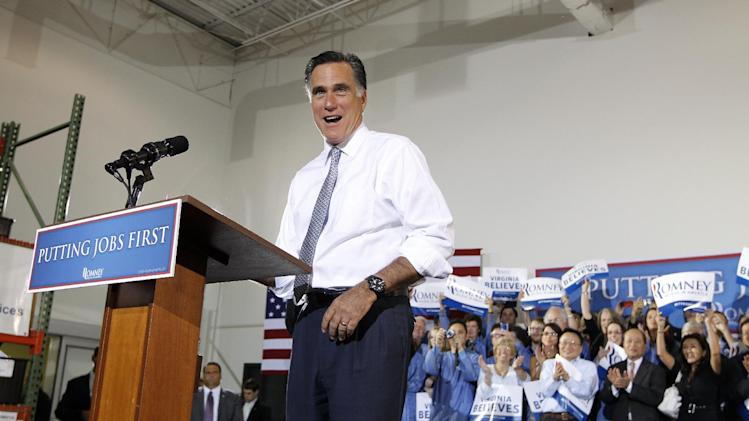 Republican presidential candidate Mitt Romney campaigns at Electronic Instrumentation and Technology in Sterling, Va., Wednesday, June 27, 2012. (AP Photo/Charles Dharapak)