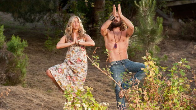 Jennifer Aniston e Justin Theroux sul set di Nudi e felici