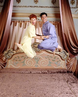Daniel Pino as Desi Arnaz and Rachel York as Lucille Ball