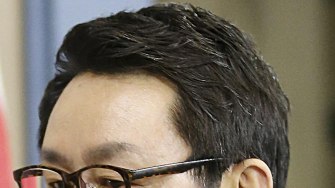"In this undated photo released by Yonhap News Agency, South Korean President's spokesman Yoon Chang-jung is seen at the presidential Blue House in Seoul, South Korea. President Park Geun-hye's office says she has fired her chief spokesman after a ""disgraceful incident"" during Park's trip to the United States. Media reports say the spokesman was accused of sexual abuse.(AP Photo/Yonhap) KOREA OUT"