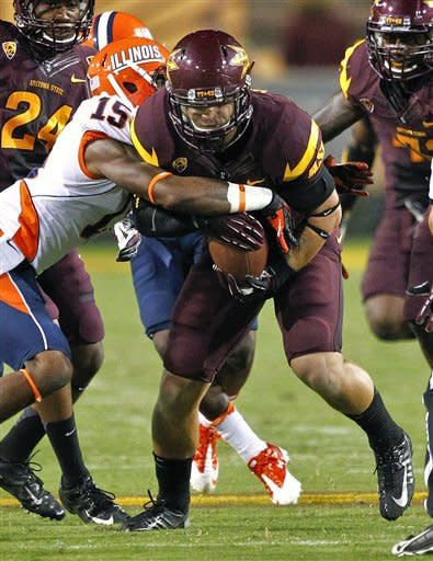 Arizona State rolls to 45-14 victory over Illinois
