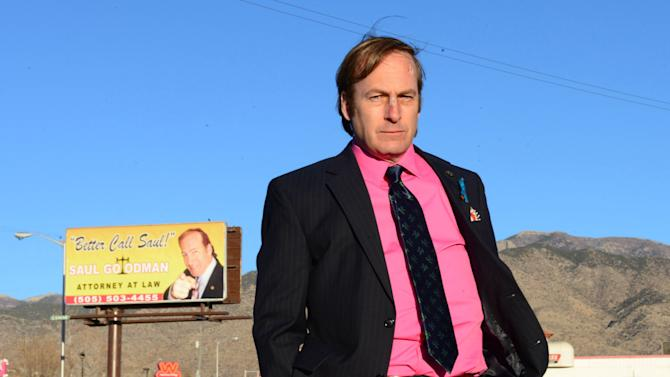 """This image released by AMC shows Bob Odenkirk in a scene from the final season of """"Breaking Bad."""" AMC and Sony Pictures Television on Wednesday, Sept. 11, confirmed that Odenkirk, who plays Saul Goodman, will star in a one-hour prequel tentatively titled """"Better Call Saul."""" Breaking Bad"""" concludes its much-acclaimed five-season run on Sept. 29. (AP Photo/AMC, Ursula Coyote)"""