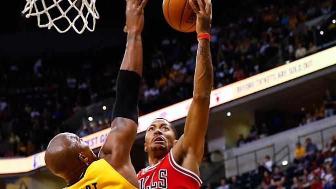 Derrick Rose returns in exhibition opener