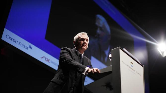 Swiss bank Credit Suisse Chairman Rohner speaks during the Capital Market Forum in Zurich