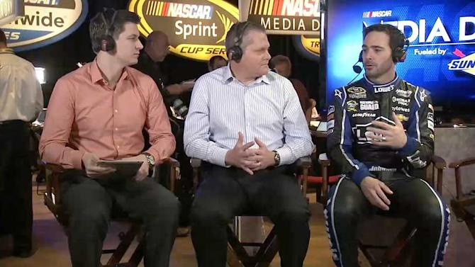 2013 NASCAR Media Day: Jimmie Johnson