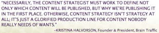 4 Tenets of How to Produce Quality Content image KristinaHalvorson