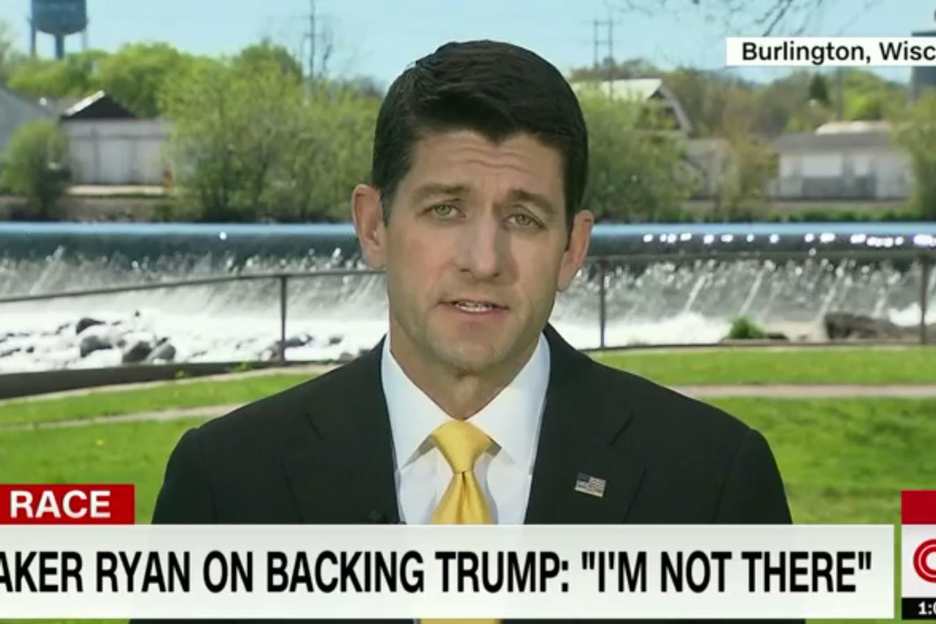 Paul Ryan to Donald Trump: This is my party.