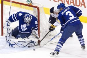 Kadri's goal lifts Maple Leafs past Sabres, 3-2