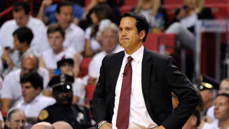 Erik Spoelstra got no media questions before Heat-Nets Game 5 (…