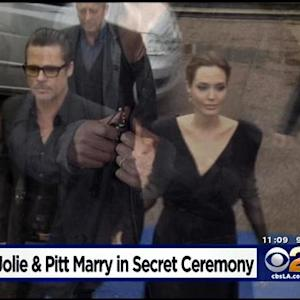 Pitt, Jolie Marry In Secret Weekend Wedding