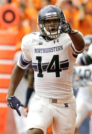 Northwestern tops Syracuse 42-41 on Fields' TD