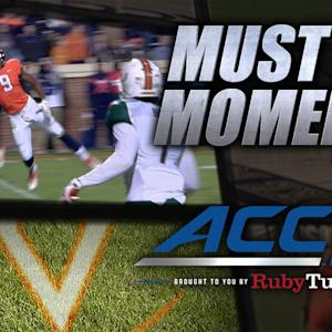 UVA's Canaan Severin With Unreal TD Grab | ACC Must See Moment