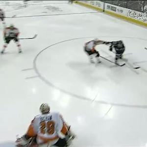 Ray Emery makes a great glove save
