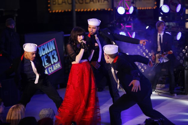 Carly Rae Jepsen performs during New Year's Eve celebrations in Times Square in New York