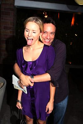 Kristen Bell and Chris Kattan at the Los Angeles premiere of Columbia Pictures' Superbad