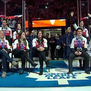 Maple Leafs honor Team Canada medalists