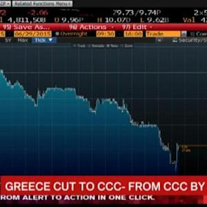 Greece Cut to CCC- From CCC by S&P