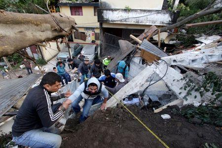 Nine dead, hundreds missing as hillside collapses on Guatemalan town