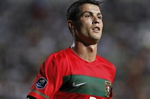 Christiano Ronaldo of Portugal is seen during the group H UEFA Euro 2012 qualifying soccer match between Cyprus and Portugal at the GSP stadium, in Ni