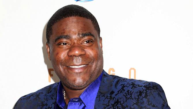 """FILE - In this April 9, 2014 file photo, actor Tracy Morgan attends the FX Networks Upfront premiere screening of """"Fargo"""" at the SVA Theater in New York. Morgan is responding to allegations made by Wal-Mart in his lawsuit over a highway crash earlier this year that killed one of his friends. Wal-Mart claimed in a court filing Monday, Sept. 29, 2014, that the actor-comedian and his traveling companions were partly to blame for their injuries in the June crash because they weren't wearing seatbelts. (Photo by Greg Allen/Invision/AP, File)"""